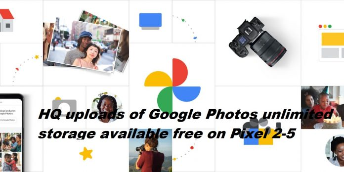 HQ uploads of Google Photos unlimited storage available free from June 1st on Pixel 2 to Pixel 5