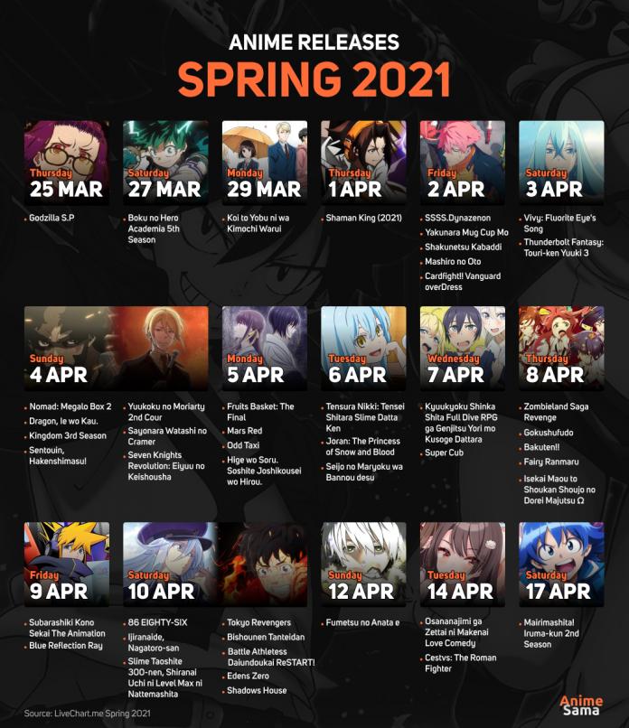 Spring 2021 Anime Calendar Released