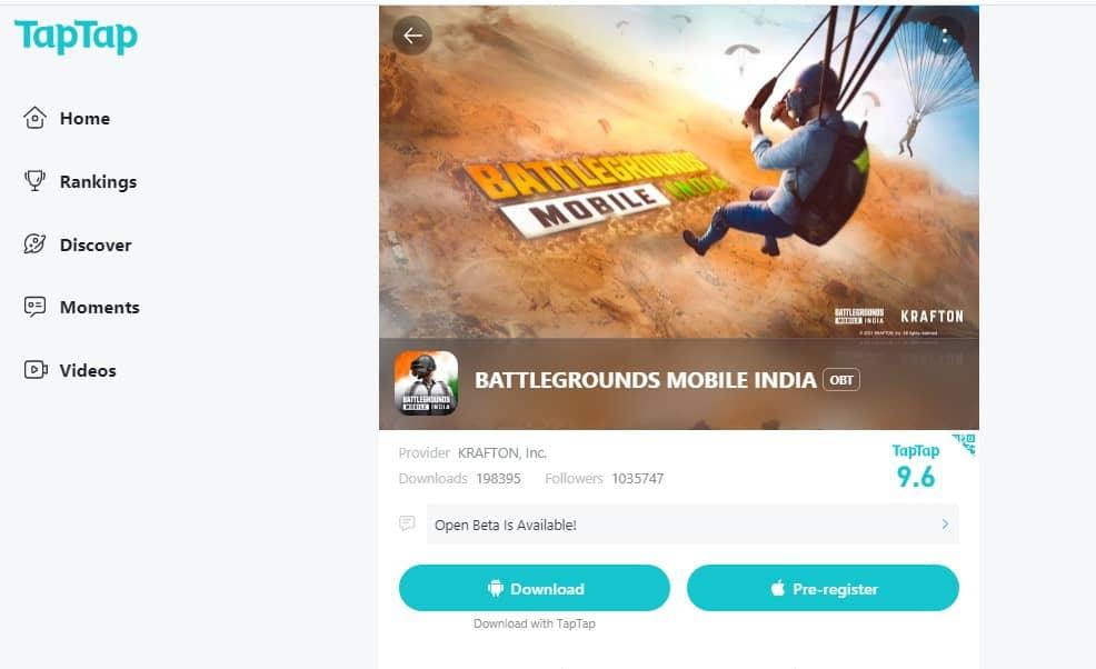 TapTap beta version download